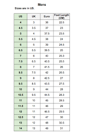 Foot Locker Size Chart Clothes Kids Foot Locker Size Chart Www Bedowntowndaytona Com