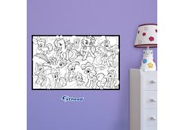 dry erase my little pony coloring sheet wall decal
