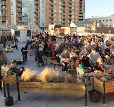 customers drinking at denizens beer garden denizens facebook