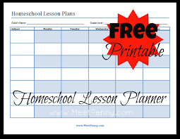 Lesson Plans Template Free Blueprints Organizing Your Homeschool Lesson Plans Meet Penny