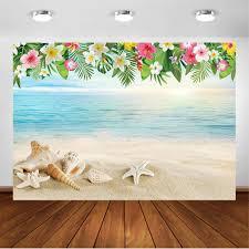 Comophoto Tropical Beach Backdrop 7x5ft Vinyl Hawaii Luau
