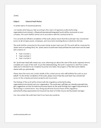 4 Miscellaneous Notification Letters For Audit Formal Word