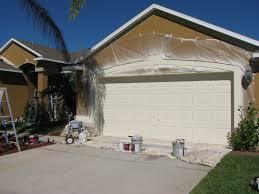 melbourne garage door spray painted