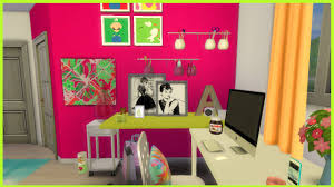 Sims Bedroom The Sims 4 Colourful Teen Bedroom Cc Youtube
