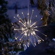 Star Led Leuchtstern Winter Feuerwerk 40 Cm Metall Und Kunststoff Silber