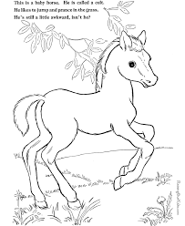 Small Picture Coloring Page of Horse to Print 014