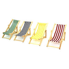 folding wooden deck chairs cute mini beach chair couch recliner for dolls house lounge free useful blue in