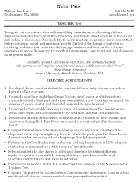 teaching resume and sample ad f ba a c d cover letter gallery of sample resume for educators