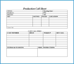 Sales Call Sheets Call Sheet Template Free Best Of Sales