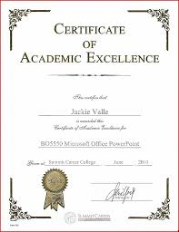 Award Of Excellence Certificate Template Certificate Template Reading Certificate Template Unique Academic 39