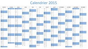 calendrier excell