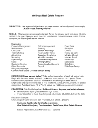 Career Objective For Real Estate Resume It Resume Cover Letter