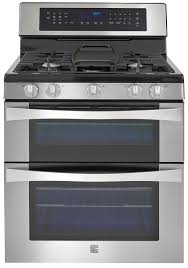 double oven gas range. Kenmore Elite 76033 6.1 Cu. Ft. Double Oven Gas Range W/Convection Cooking \u2013 Stainless Steel