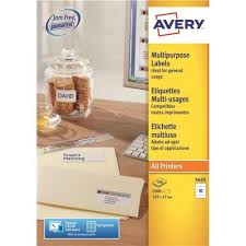Avery 10 Per Page Labels Avery 105x57mm Copier Labels White 10 Per Sheet Dps10 3425 100