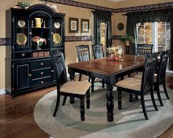 ashley black dining room set