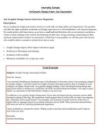 Example Of Internship Cover Letter Leading Professional Training Internship College Credits