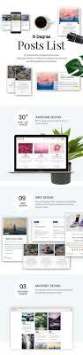 Blog Post List Design Eight Degree Posts List Blog Post Designer Premium