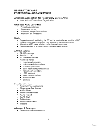 Sample Resume Objectives For Respiratory Therapist Refrence Cover