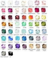 19 Bridal Kisses Wedding Jewellery Swarovski Colour Chart