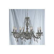 searchlight 8698 8gy marie therese 8 light chandelier smoked grey
