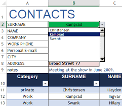 Download Excel Phone List Template