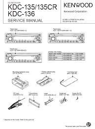 kenwood kdc service manual pdf kenwood kdc 135 136 cd receiver service manual