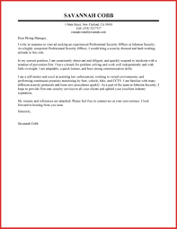 Luxury Application Letter For Security Guard Type Of Resume