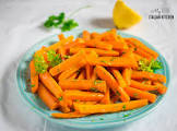 baby carrots with lemon and parsley