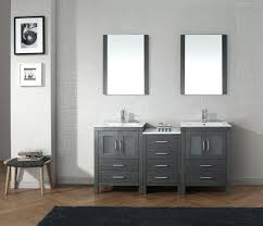 vanity units for bathroom ikea nice looking grey polished double sink added wall mount square mirror hang on white pai