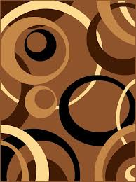 picture of modern contemporary linked in circles geometric rug