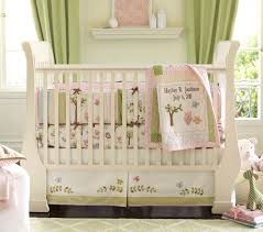 the bedding is from the hayley nursery bedding collection at pottery barn kids