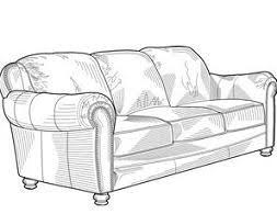 sofa clipart. contemporary sofa clipart