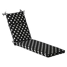 pillow perfect outdoor black white polka dot chaise lounge cushion 385372 polyester
