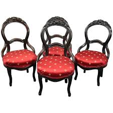 antique parlor chairs four antique carved walnut balloon back upholstered parlor chairs circa for vintage