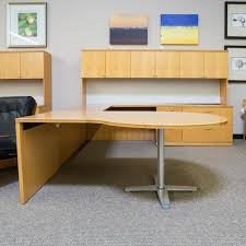 large office desk. Used Right D Top U Shaped Office Desk With Large Hutch Maple Intended For Idea 13