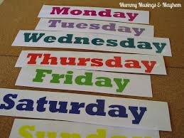 Days Of The Week Chart For Toddlers Visual Learning For Toddler Mornings The Empowered Educator