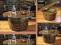 reversible reclaimed wine barrel. Half Wine Barrel Coffee Table Catchy Gorgeous Ideas Reversible Reclaimed