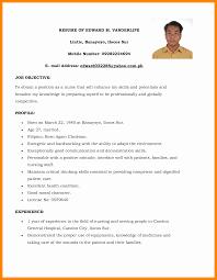 Applicant Resume Sample Filipino Simple Resume Format For Ojt