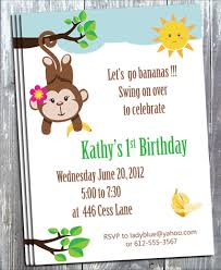 email birthday invitation lets go banana monkey birthday invitation