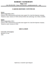 what a multi page resume should look like 2