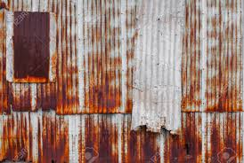 metal wall texture. Stock Photo - Zinc Wall Pattern. Rusty Corrugated Metal Texture.  Old Decay Naturally: Space For Add Text Above And May Be Used As Background Texture