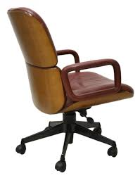 century parisi for mim leather office chair