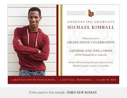 High School Graduation Announcement Minnesota High School Graduation Invitations And