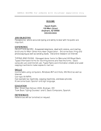 Examples Of Resumes With No Job Experience Examples Of Resumes