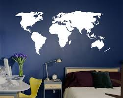 office world map. World Map Wall Decal (up To 3ft Tall), K135 Office