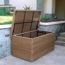 montana rattan outdoor cushion storage box