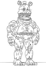 Printable Nightmare Freddy Coloring Page Fnaf Fnaf Coloring