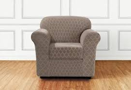 Armchair slipcovers Queen Anne Chair Stretch Grand Marrakesh Two Piece Chair Slipcover Surefit Chair Covers Slipcovers Surefit