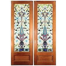 stained glass doors pocket for the dinning room front door ireland