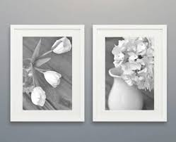 floral shabby chic wall decor grey white flower wall art set of 2 for shabby on chic wall art set with photo gallery of shabby chic wall art viewing 26 of 34 photos